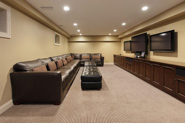 Basement of luxury home