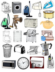 Home appliances electrical washer vacuum toaster oven