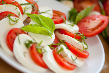 Mozzarella and Basil and Tomato 6