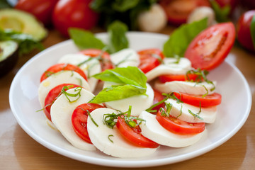 Mozzarella and Basil and Tomato 4