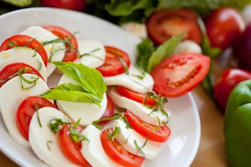Mozzarella and Basil and Tomato 3