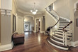 Foyer with curved staircase - 27580081