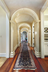 Hallway with curved arches