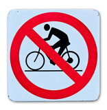 phohibition bicycle warning sign