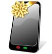 Telefono Cellulare Dono con Fiocco-SmartPhone Gift-Vector