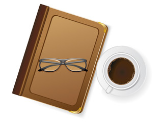 cups of coffee and with glasses