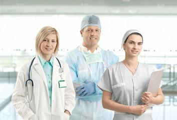 Team portrait of smiling healthcare professionals
