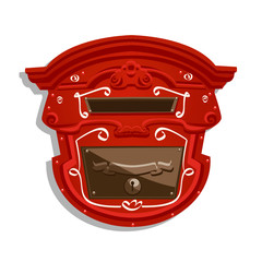 Red Postbox isolated , vector illustration