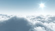 flight over clouds, loop-able cg animation
