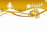 Fototapety Christmas,xmas, Weichnachten, Stanta Claus, gold