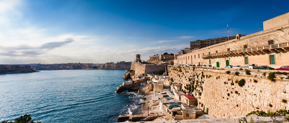 Harbor of Valetta with Bell Tower Memorial, Malta
