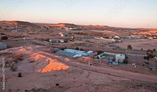 Leinwanddruck Bild panorama of coober pedy, south australia