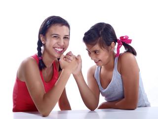 girls armwrestling