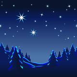 Weihnachtskarte, Winterträume, Illustration, Vektorgrafik