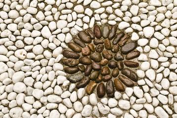 Mosaico di pietre fluviali