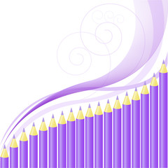background of purple crayons