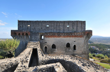 Ourem old castle at the top of the hill -  Portugal