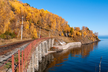 The Circum-Baikal Railway - historical railway along Lake baikal