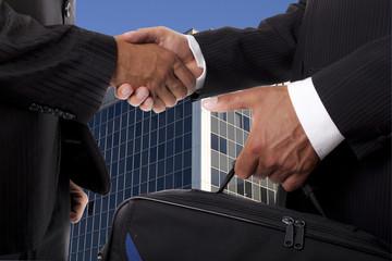 stretta di mano e affari