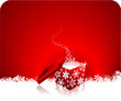 christmas gift background red