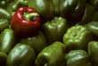 Green Bell peppers with One Red Bell pepper