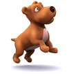 3d Small dog jumps for joy