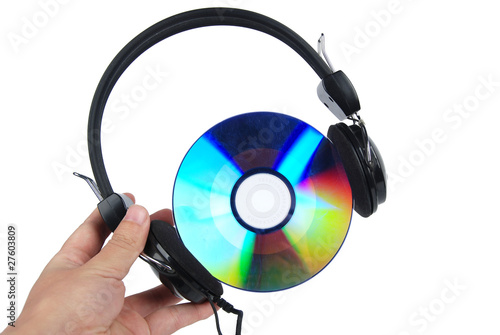 DVD and headphone