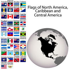 Flags of North America, Carribean and Central America, the compl
