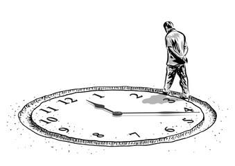 uomo ed orologio