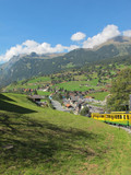Cog-wheel train to Jungfraujoch Switzerland