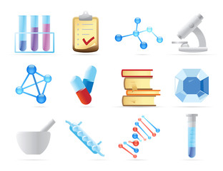 Icons for chemistry