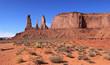 paysage du désert de monument valley