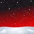 Sternenhimmel mit Winterlandschaft