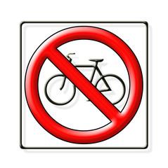 panneau routier, interdit aux deux-roues