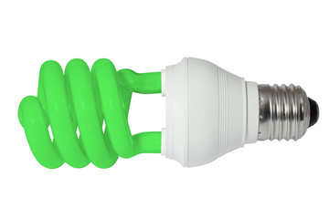Green energy saving fluorescent light bulb (CFL)
