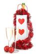 flûtes et bouteille de champagne