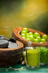 Green balls - bath salt and spa stones