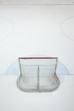 empty ice hokey net