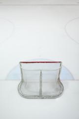 empty ice hokey net