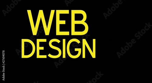 Web Design word collage animation