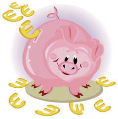 Piggy bank ,euro