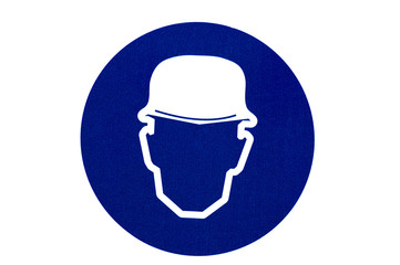 Wear a hat sign on isolated background