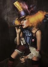 Dzieła sztuki zdjęcia złego klauna