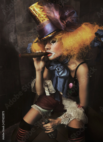 Fine art photo of a bad clown