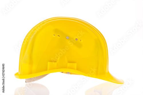 Bauhelm eines Bauarbeiters