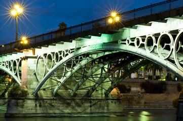 Die Brücke von Triana bei Dämmerung I