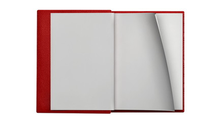 Turning blank pages in modern book
