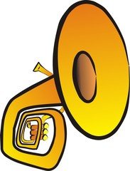 tuba isolated illustration