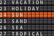 Departure Style Information Board - SUN