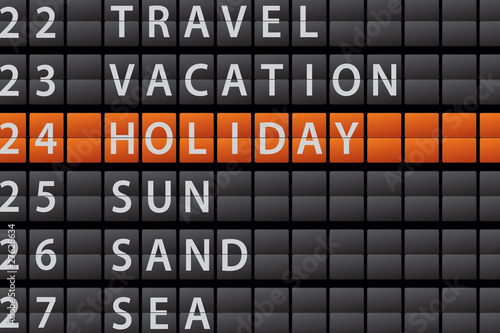 Departure Style Information Board - HOLIDAY